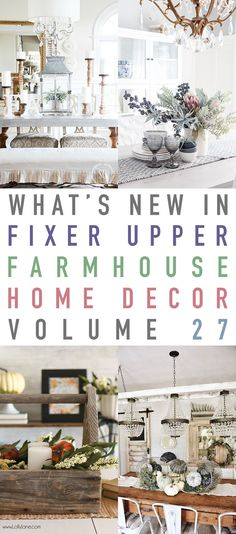 Hope you all are feeling fabulous today! Can you believenext Sundaywe will be in September! Speaking ofSunday…of course that means it is time for yet another jam packed What's New In Fixer Upper Farmhouse Home Decor Volume 27! It is filled with tons of Farmhouse Decorating Inspirations…There is a Tutorial on how to Cane a …