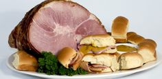 Bone Suckin' Easy Ham Sandwiches Recipe with our Fabulous Sweet Hot Mustard. Try this at your next gathering!!
