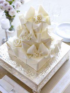 Baking Arts, San Francisco, California Modeling Chocolate bows and roses wedding cake. Amazing Wedding Cakes, White Wedding Cakes, Amazing Cakes, Cake Wedding, Purple Wedding, Gold Wedding, Wedding Decor, Cream Wedding, Elegant Wedding