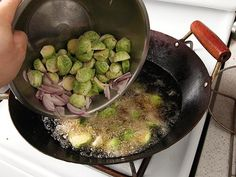 Deep Fried Brussels Sprouts - Even my non-brussels sprout eating roommate had a second helping