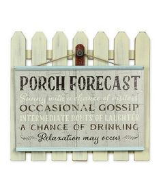 Porch forecast