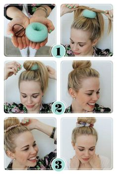 Foam scrunchy for extra volume for your bun~