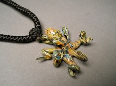 Hand blown Glass Octopus Pendant by Glassnfire on Etsy, $48.00
