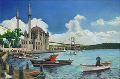 B Turkey Holidays, Beauty In Art, Turkish Art, Most Beautiful Cities, Istanbul, World, Drawings, Decoupage, Painting