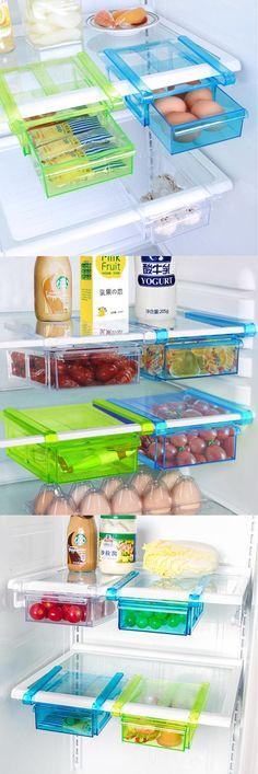 64 Ideas For Diy Storage Boxes Plastic Kitchen Organization Kitchen Storage Hacks, Fridge Storage, Diy Storage Boxes, Kitchen Organisation, Fridge Organization, Storage Rack, Kitchen Hacks, Storage Organization, Organized Fridge