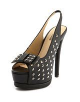Studded Back Peep Toe Wedge: Charlotte Russe