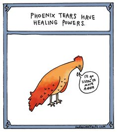 Did you even think about the emotional struggle a phoenix might have to go through?
