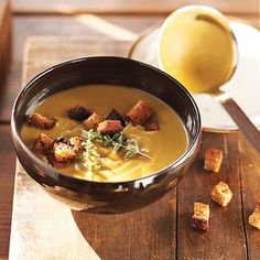 This split-pea soup is a hearty meal that satisfies on chilly nights. Serve with crusty, buttered bread.
