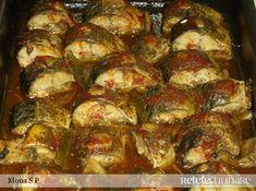 peste la cuptor cu sos marinat Romanian Food, Romanian Recipes, Tasty, Yummy Food, Fish And Seafood, Goodies, Cooking Recipes, Vegetables, Knits