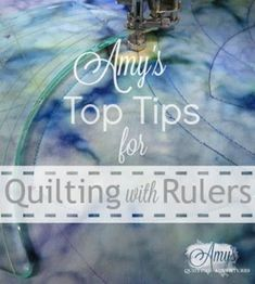 Whether it& a sewing machine, domestic machine, or sit-down long arm, if you quilt by pushing your quilt instead of moving a machine, I& got some great tips for using rulers to guide your free moti Machine À Quilter, Machine Quilting Tutorial, Machine Quilting Patterns, Quilting Templates, Quilting Stencils, Quilting Rulers, Quilting Tips, Quilting Tutorials, Longarm Quilting