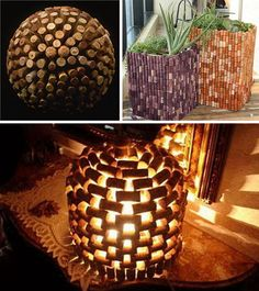 Oh, soooo many wine corks... Here are some fun ways to use them!