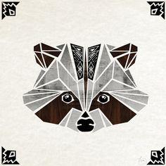 raccoon wood by MaNoU56 on DeviantArt