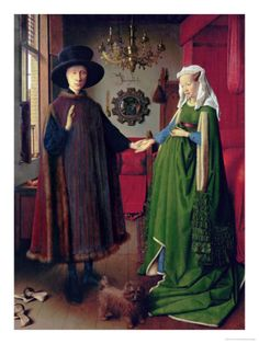 Portrait of Giovanni Arnolfini and his Wife, c.1434 Giclee Print by Jan van Eyck at Art.com