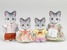Grey Cat Family|Sylvanian Families