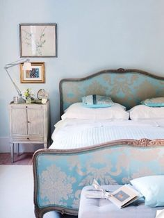 European inspired master bedrooms... matching headboard and footboard