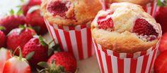 Strawberries & Cream Muffins - The 4 Blades