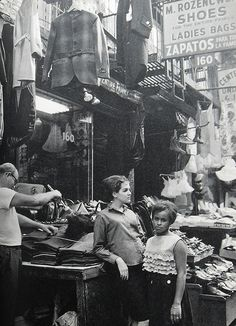 U.S. Garment Stores Lower East Side, New York City 1960s