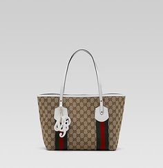 Buy The feature of gucci jolie medium tote with web -brown