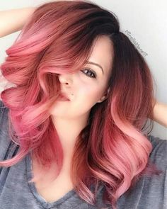Super cool !! || Rose Gold Hair Color by @jedihairmaster Gorgeous Model...drumroll...Stylist @mirellamanelli Girls who like this color can DIY on VPFASHION!