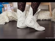 Crochet Granny Slippers Tutorial - YouTube