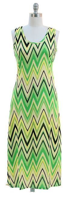 Green Chevron maxi dress $18.00