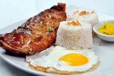Filipino Rice and Egg Breakfasts: Tapsilog, Tosilog and Longsilog: Bangsilog