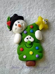 Imagen relacionada Polymer Clay Ornaments, Sculpey Clay, Polymer Clay Figures, Polymer Clay Projects, Polymer Clay Creations, Clay Christmas Decorations, Polymer Clay Christmas, Christmas Crafts, Christmas Ornaments