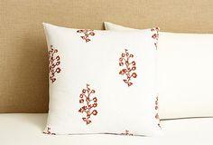 20x20 Senegal Decorative Pillow, Brick