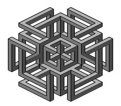 Complex impossible shape