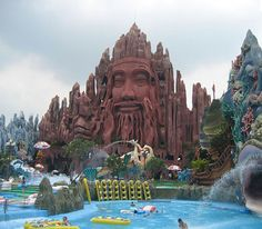 The first Buddhist amusement park: Suoi Tien in Ho Chi Minh City, Vietnam Vietnam Vacation, Vietnam Travel, Thailand Travel, Asia Travel, Laos Vietnam, Vietnam Ho Chi Minh, Vietnam Tours, Places To Travel, Places To See