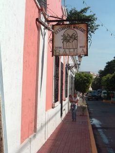 Street in old Mazatlan, MEXICO.