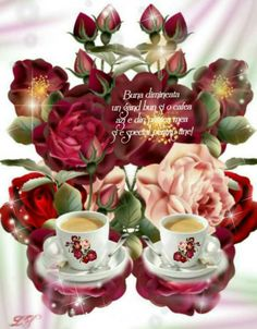 Morning Greeting, Bouquets, Coffee, Tableware, Happy Day, Art, Have A Happy Day, Random Stuff, Dinnerware
