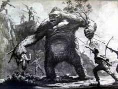 Concept art for King Kong (1933).