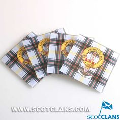 Bell Clan Crest and Tartan Coaster