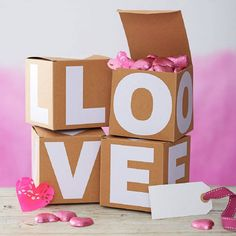 Valentines gift box, the letter room