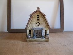 New Item! Vintage Windy Meadows Pottery Candle House - Ceramic Dairy Barn #446 Collectable Art Pottery...Reshopgoods by Reshopgoods on Etsy