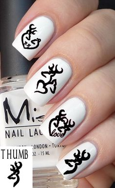 50pc Deer logo nail decal set by DesignerNails on Etsy, $4.00