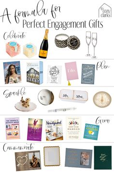 In the post are 42 (!) engagement gift ideas that the bride and groom will actually use and love. Click for even more gift ideas and 3 rules to remember for great engagement gifting. Thoughtful Engagement Gifts, Engagement Gifts For Him, Thoughtful Gifts, Craft Gifts, Diy Gifts, Unique Gifts, Holiday Fun, Holiday Gifts, Wedding Book