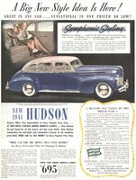 Hudson Six Deluxe Sedan 1941 Ad Picture