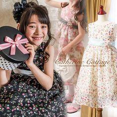 子供ドレス こどもドレス  かわいいです! キャサリンコテージのドレス シンプルなラインが女の子の可愛らしさを引き立てますね。 お花のプリントもかわいい。   Girl's dress!!