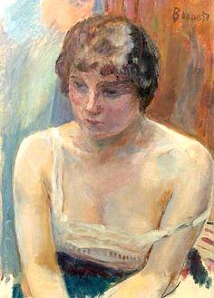 Jeune Femme À La Gorge Découverte by Pierre Bonnard