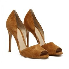 Cammili cognac pumps ($455) ❤ liked on Polyvore featuring shoes, pumps, cognac shoes and cognac pumps