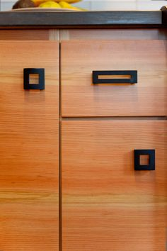 Superieur Create A Modern Due With Black Geometric Pulls And Wood Cabinets. Design:  Encircle Design And Build