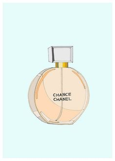 Chance, by Chanel- One of my favorite perfumes. Print by Kristina Hultkrantz