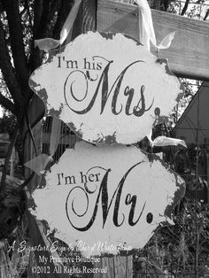 I'm Her Mr. & I'm His Mrs. Chair Hangers