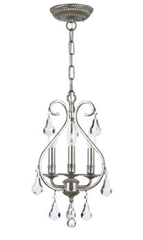 Crystorama Lighting Group English Bronze Ashton 3 Light Wide Chandelier with Hand Cut Crystal Mini Chandelier, Chandelier Lighting, Chandeliers, Crystal Shapes, Contemporary Chandelier, Crystal Collection, Incandescent Bulbs, Bronze, Ceiling Lights