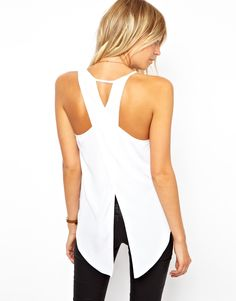 ASOS Tank with Assymetric Straps and Wrap Back