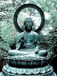 Buddha with ring behind