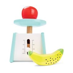 Your child will enjoy a fun imaginative playtime with these toy scales that come with a toy apple and banana. Banana Toy, Play Equipment, Toy Rooms, Friends In Love, Playroom, Gremlins, Toys, Fun, Future