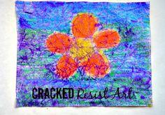 cracked wax resist art for kids